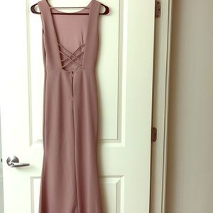 Elegant and stunning formal mauve gown, size S